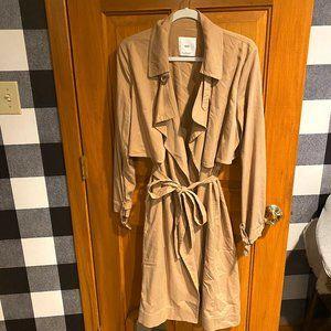 Mango Drapey Trench Coat sz M